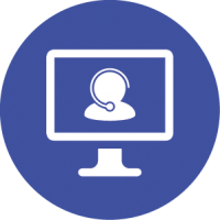 Virtual receptionist service icon